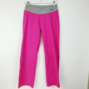 Nike Womens Pink Gray Gym Yoga Workout Running L